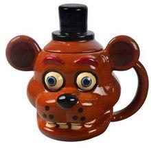 Креативная керамическая кружка аниме Five Night At Freddy кукла мультяшная игра украшение чашка для воды кофейная чашка AG738