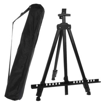 Tall Display Telescopic Studio Painting Metal Tripod Art Easel Tripod Display Stand Drawing black