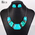 MS17655 Fashion Brand Jewelry Sets Silver Plated Blue Necklace Set Bridal Jewelry High Quality Party Gifts