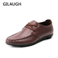 100 Genuine Leather Men Flats Shoes Brand Handmade Men Casual Leather Shoes Leather Moccasin Fashion Men