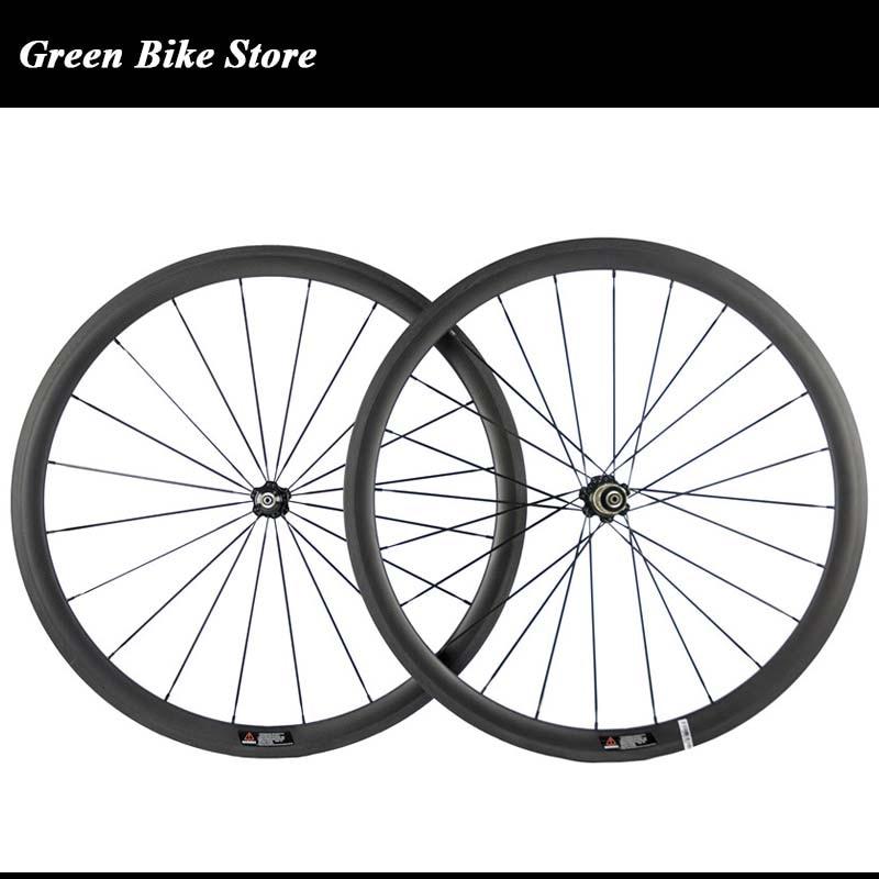 38mm carbon wheelset full carbon bicycle wheels 700C clincher wheel ceramic hub