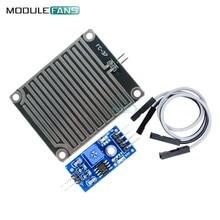 2 ADET Kar Yağmur Damlaları Algılama Sensörü Modülü Yağmur Modülü Hava Modülü Nem Arduino Için Hava Durumu Monitörü Yüksek Duyarlı