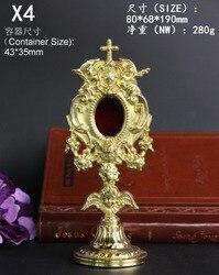Alta calidad garantizada cobre holy box monstrance buen santo católico exquisitos regalos sagrados recuerdo elegante agraciado