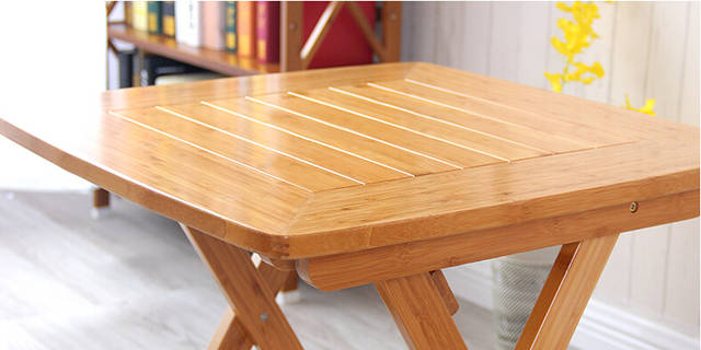 Online Shop Modern Dining Table Legs Foldable Bamboo Furniture
