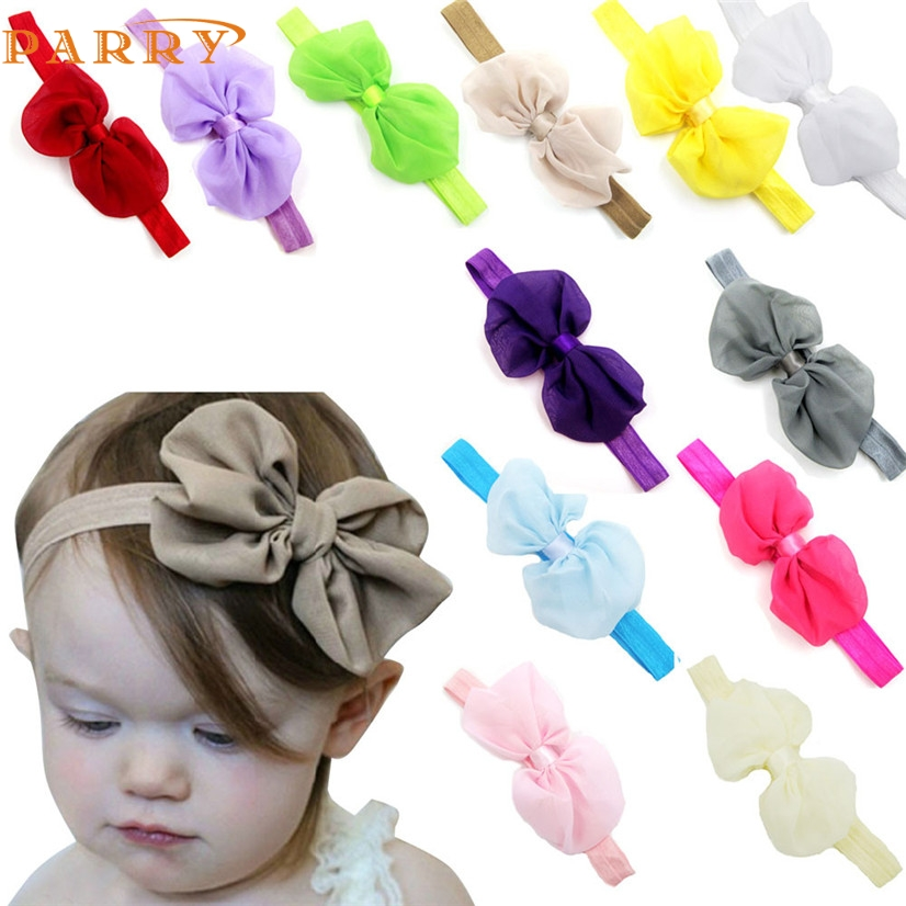 PARRY drop ship hair accessories headband cute 5PC Baby Newborn Toddler Elastic Headband Lace Bowknot Headbands S25 Q20 AUG31