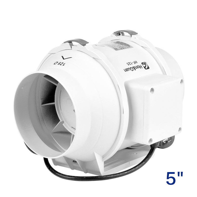 5 inch inline duct fan plastic bathroom kitchen fan ventilation fan air extractor ceiling pipe exhaust fan ventilator 220V