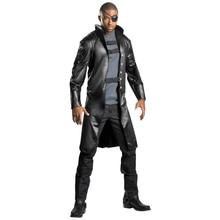 A la venta, disfraz de lujo de Nick Fury para adultos, disfraz de Halloween de la película de Marvel, vestido de lujo para hombres, disfraz de superhéroe para vestirse