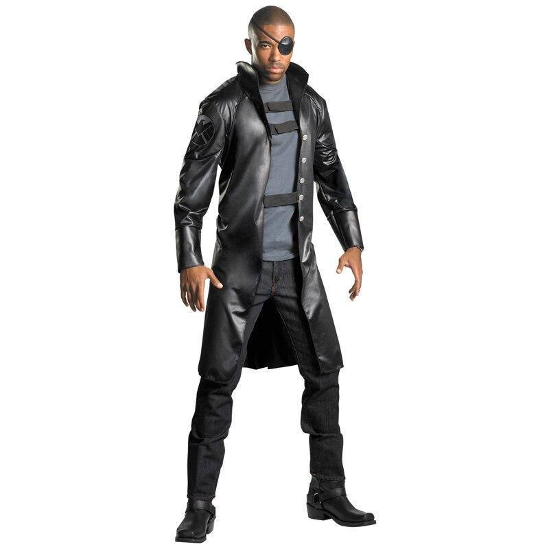 On Sale Deluxe Nick Fury Costume Adult Halloween Marvel Movie Fancy Dress Men's Superhero Cosplay Dressing