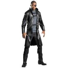 Satılık Deluxe Nick Fury kostüm yetişkin cadılar bayramı Marvel film süslü elbise erkek süper kahraman Cosplay soyunma