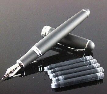 Noble JINHAO X750 fontanna czarny cienkopis matowe kolory z prezentem pióro metalowe pióro atramentowe luksusowe pisanie pióro stalówki 0.5mm
