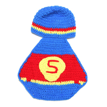Superman Newborn Costume Baby Boy And Girl Unisex Newborn Photography Props Clothing Blue Baby Crochet Patterns Cute Accessories