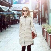 2016 Новый осень куртка женщин зимнее пальто женская одежда Средней Длины Хлопка Мягкий тонкий теплая Куртка пальто Высокого Качества пальто