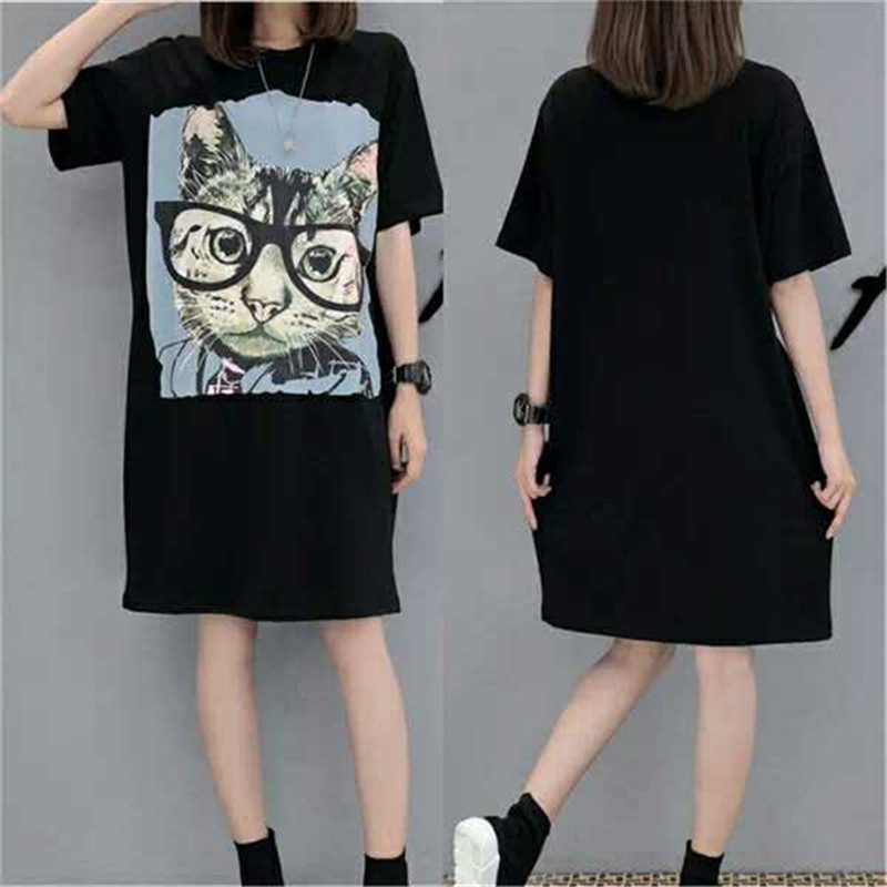 Maternity Clothes Women Pregnant T Shirt Short Sleeve Summer Dresses In Large Sizes Black Printing Pregnancy Clothes for Women