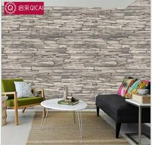 Rustic Vintage 3D Vinyl Brick Wall Wallpaper Roll Embossed Texture Photo Faux Stone Effect Wall Paper