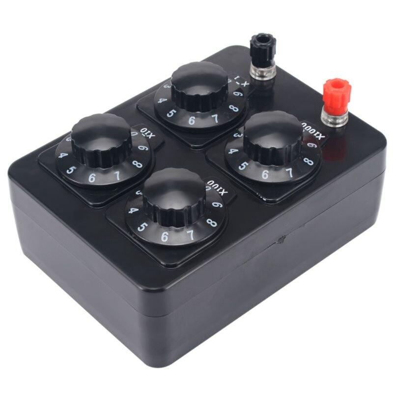 SHGO HOT-0-9999 Ohm Simple Resistance Box Precision Variable Decade Resistor Teaching Instrument