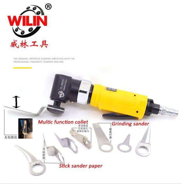 Wilin Pneumatic Tools Windshield Cutter Machine Left And Right Orbital Air Scraper Multi Functions WL 66532