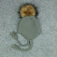 Baby Hats 3 Sizes 1-5 Years Boys Girls Hats Kids Winter Sweater Boy Hats Bonnet Enfant Hat Pom Pom Hat for Toddler Baby Boy