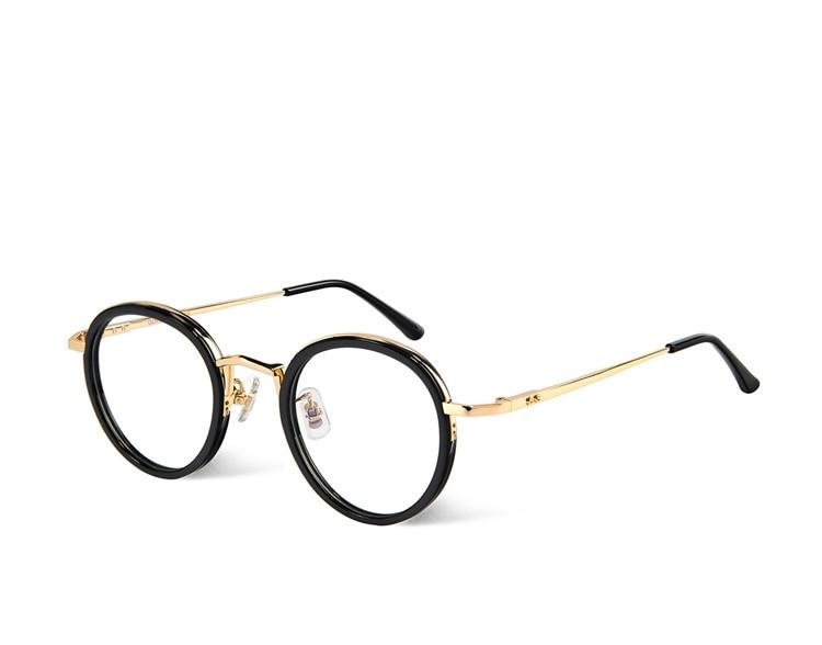Óculos suaves Samo Marca Moldura Redonda Óculos de Armação de metal Retro  Mulheres Homens óculos de Leitura de Vidro de Proteção Óculos oculos de grau 8d032f023d