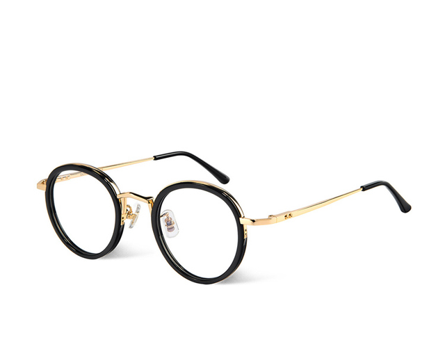 2aa92663da Gentle eyeglasses Samo Brand Round Frame metal Glasses Frame Retro Women  Men Reading Glass Protection Eyeglasses