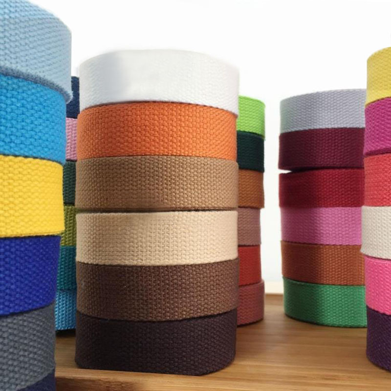New 25mm(1') 12 Meter Canvas Ribbon Belt Bag Webbing/label