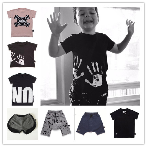 NUNUNU T SHIRT children clothing VESTIDOS boys clothing harem pants bobo choses brand kids boys shorts