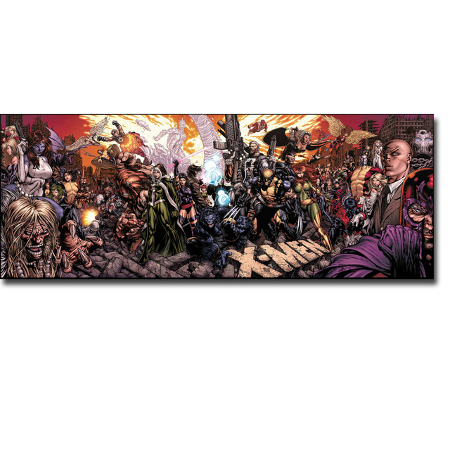 X-Men Superheroes Picture Comic Anime Art Silk Fabric Poster Print 13×28 24×48″ Captain America Hulk Spiderman 071