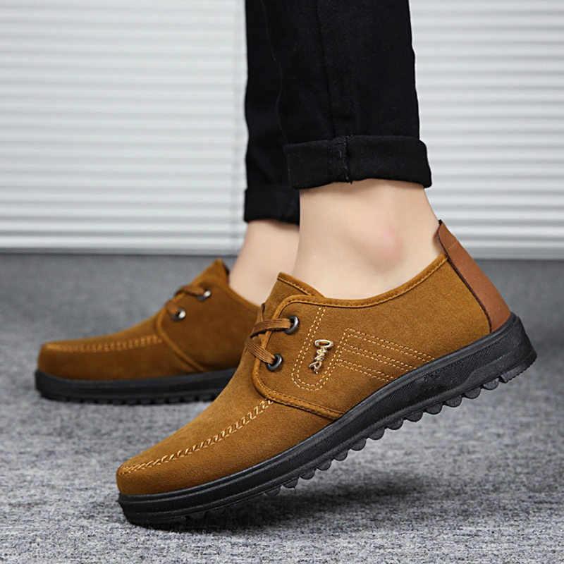 LAISUMK buty marki mężczyźni Zapatos Hombre Chaussure Homme Sapato Masculino dorywczo płótnie oddychające sznurowane stałe mokasyny gumowe