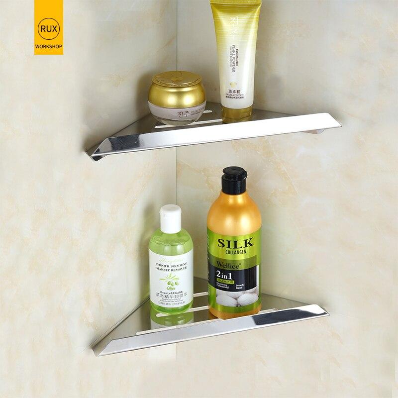 Bathroom Shelves Brushed Nickel Stainless Steel 304 Wall Shelf Shower Caddy Rack Accessories