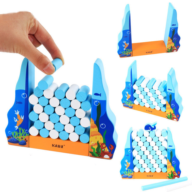 Wooden Boardgame Montessori Whale Balance Building Block Oyuncak Toys For Children Juguetes Brinquedos Oyuncaklar Brinquedo