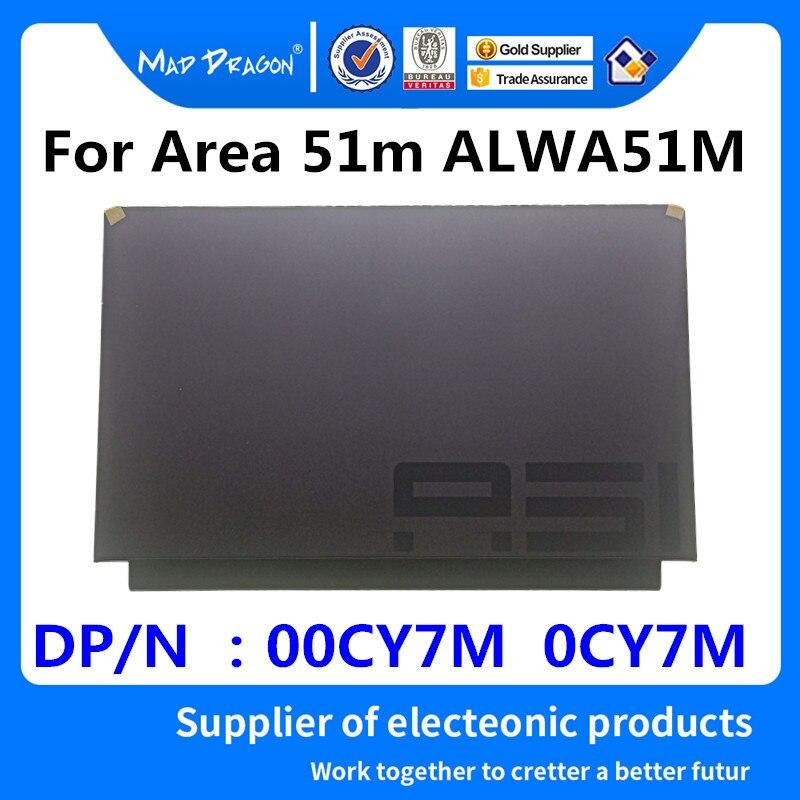 MAD DRAGON marque ordinateur portable nouveau original LCD couverture supérieure LCD couverture arrière pour Dell Alienware zone 51 m ALWA51M noir une coque 00CY7M 0CY7M