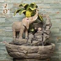 Семь Лето Счастливый Слон Фонтан животных украшения фэн шуй китайский мебель вход ТВ кабинет Смола ремесла