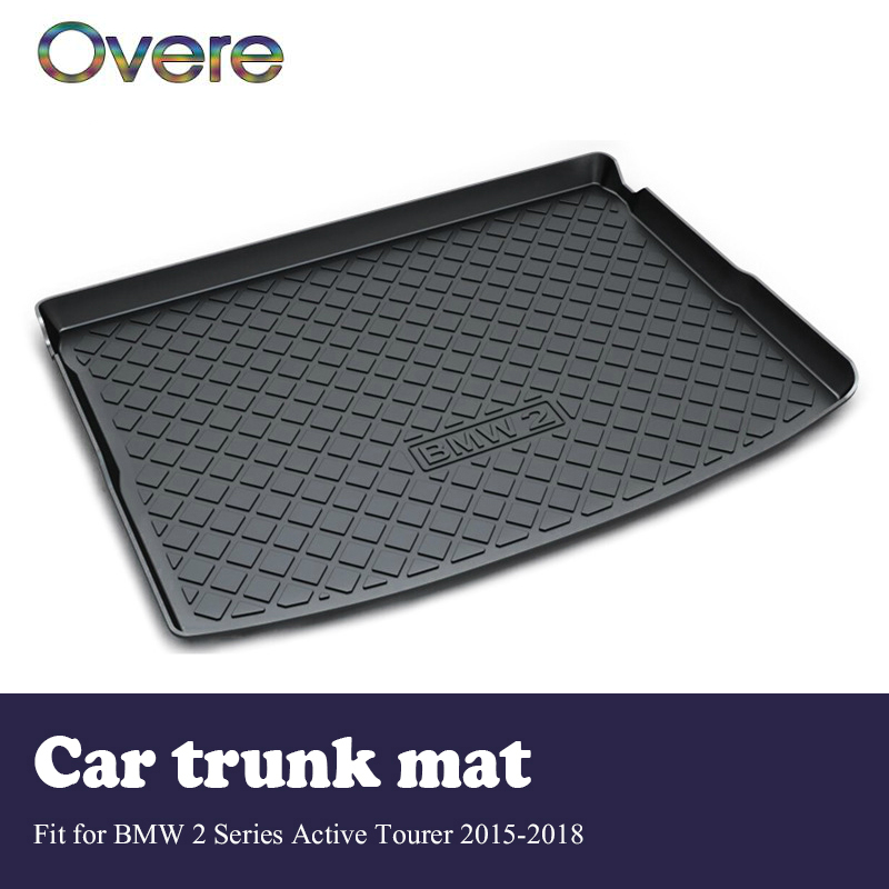 Overe 1Set Car Cargo rear trunk mat For BMW 2 Series F45 2015 2016 2017 2018 Boot Liner Anti Slip and Waterproof Mat Accessories цена