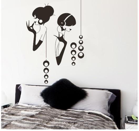 Elegant Girls Bedroom Background Living Room Removable