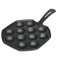 cast iron ball maker pan Muffin Porous Pancake Waffle Baking Pan Fried balls Quail Egg Breakfast Pot Gas Cooker Grill Pan Maker