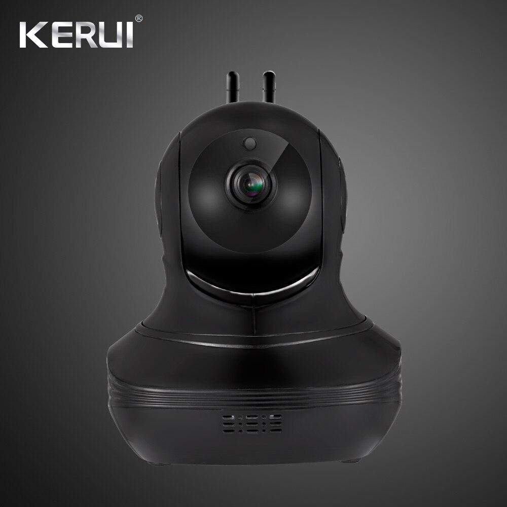 KERUI 1080P Cloud Storage  Black Wifi  IP Camera Surveillance Camera 2 way Audio Activity Alert Smart Webcam