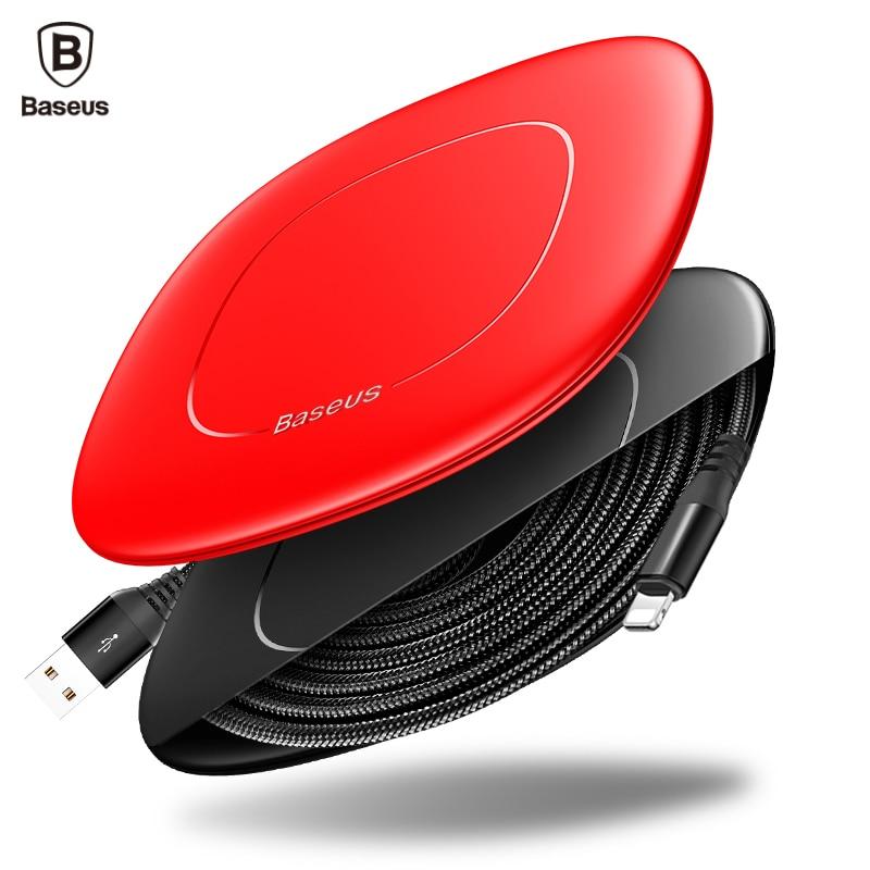 BaseusสายUSBสำหรับiPhone 7 6 5 iPadโทรศัพท์มือถือสายเคเบิ้ลที่มีเคเบิ้ลไขลาน2AสำหรับiPhoneสายชาร์จไฟชาร์จสาย