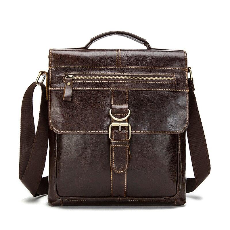 ФОТО Senkey style 100% Genuine Leather Men Bag 2017 Fashion men messenger bags shoulder Business Men's Briefcase crossbody Handbags