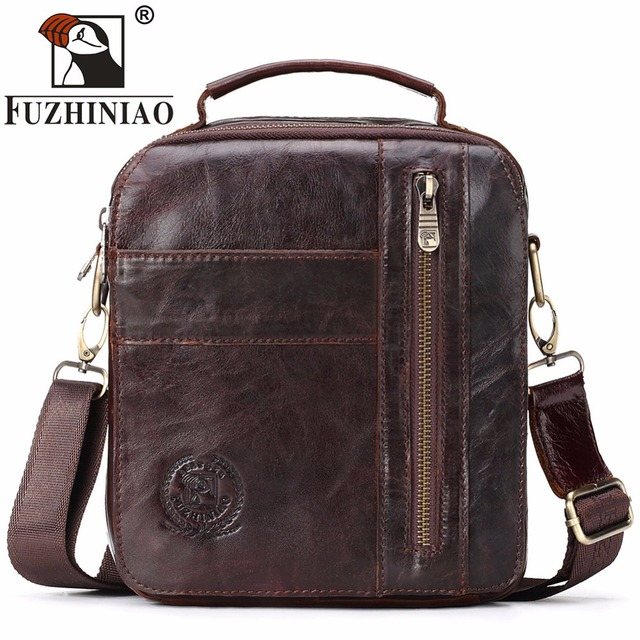 d0ecd4013627 FUZHINIAO 2018 HOT Fashion Men Shoulder Bag Genuine Leather Messenger Bag  Designer Famous Brand Business Crossbody Bag For Male