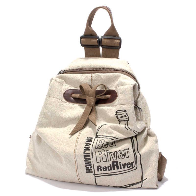 MANJIANGHONG большой емкости дамы модный рюкзак из парусины хлопок и лен дорожная сумка для отдыха дикий простой студенческий мешок