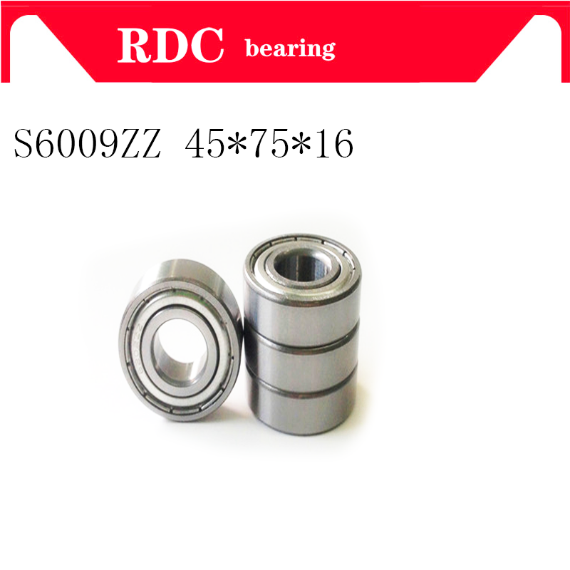 High quality ABEC-5 bearing 6009 ZZ S6009-ZZ 80109 S6009ZZ Stainless steel Deep Groove ball bearing 45*75*16mm 100pcs abec 5 440c stainless steel miniature ball bearing smr115 s623 s693 smr104 smr147 smr128 zz shield for fishing fly reels