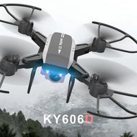 Professional KY606D Foldable RC Drone Aircraft Long Fly Time FPV Helicopter With 1080P HD Wifi Camera