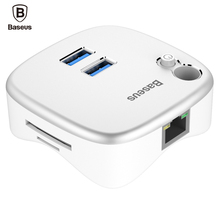 Baseus USB HUB PC Expansion Dock USB 3 0 Charger TF SD Card Reader 1000Mbps To