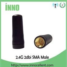 10pcs 2.4G antenna Wifi Antenna Omni Directional SMA Male TX2400-JZ-3 2.0dBi Mini Antennas For rf Communication
