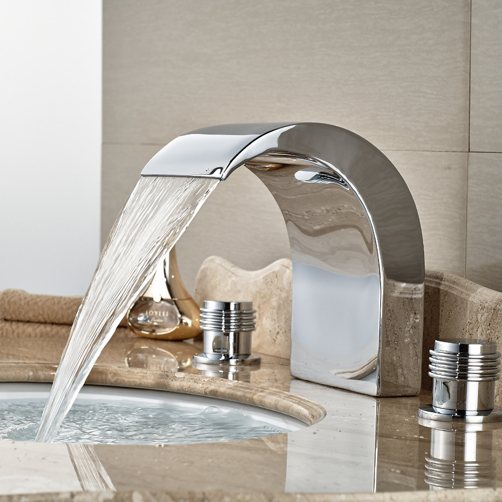 Wholesale And Retail Tall Waterfall Spout Widespread Bathroom Basin Faucet Dual Handles Vanity Sink Mixer Tap 8 pastoralism and agriculture pennar basin india