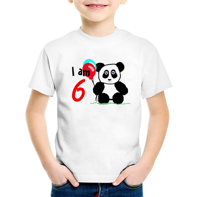 Birthday T Shirt 1 15 Years Old Boys Cute Baby Love Printed 18M 10T Children Summer Casual Clothing Tq800