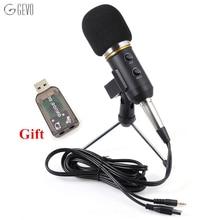MK-F200FL микрофон профессиональные USB микрофон для компьютера конденсаторный микрофон стойка для микрофона проводной 3.5 мм Разъем Ручной микрофон студийный с караоке Радио С тудийный Микрофон для диктофона для ПК