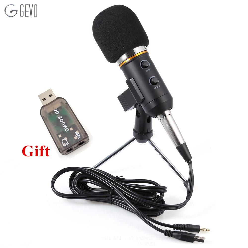 MK F200FL Professional Handheld Condenser Microphone USB Computer Microphone Stand font b Tripod b font Wired