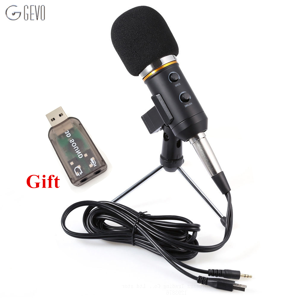 MK-F200FL Profissional Condensador Microfone USB Computador Desktop Microfone Com Suporte Tripé de Bloqueio 3.5mm Aux Jack Para Gravação De Vídeo Estúdio Para Rádio Broadcasting Karaoke Para Computador PC