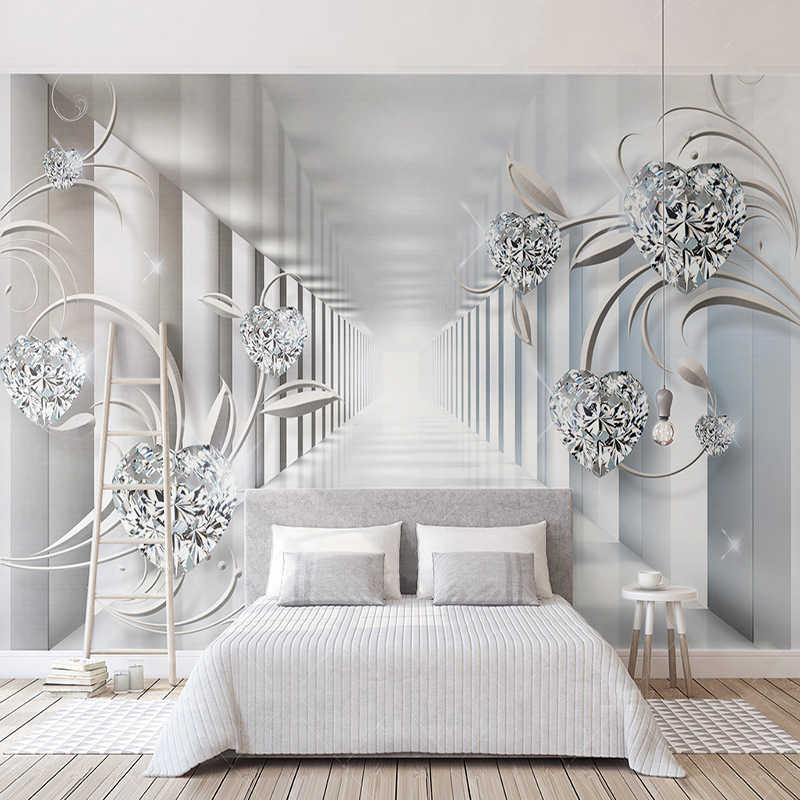 Пользовательские фрески обои 3D стерео абстрактная космическая стена ткань Европейский стиль Алмазный Узор Гостиная ТВ фон обои