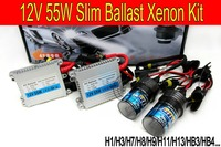 Gratis verzending Hoge kwaliteit 12 V 55 W hid xenon kit H1 H3 H7 H9 H11 H4 Bi xenon Hi/Low 9005 9006 6000 K hid kit xenon voor Koplamp